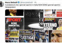 Tweet di Belinelli contro i giornali sportivi italiani