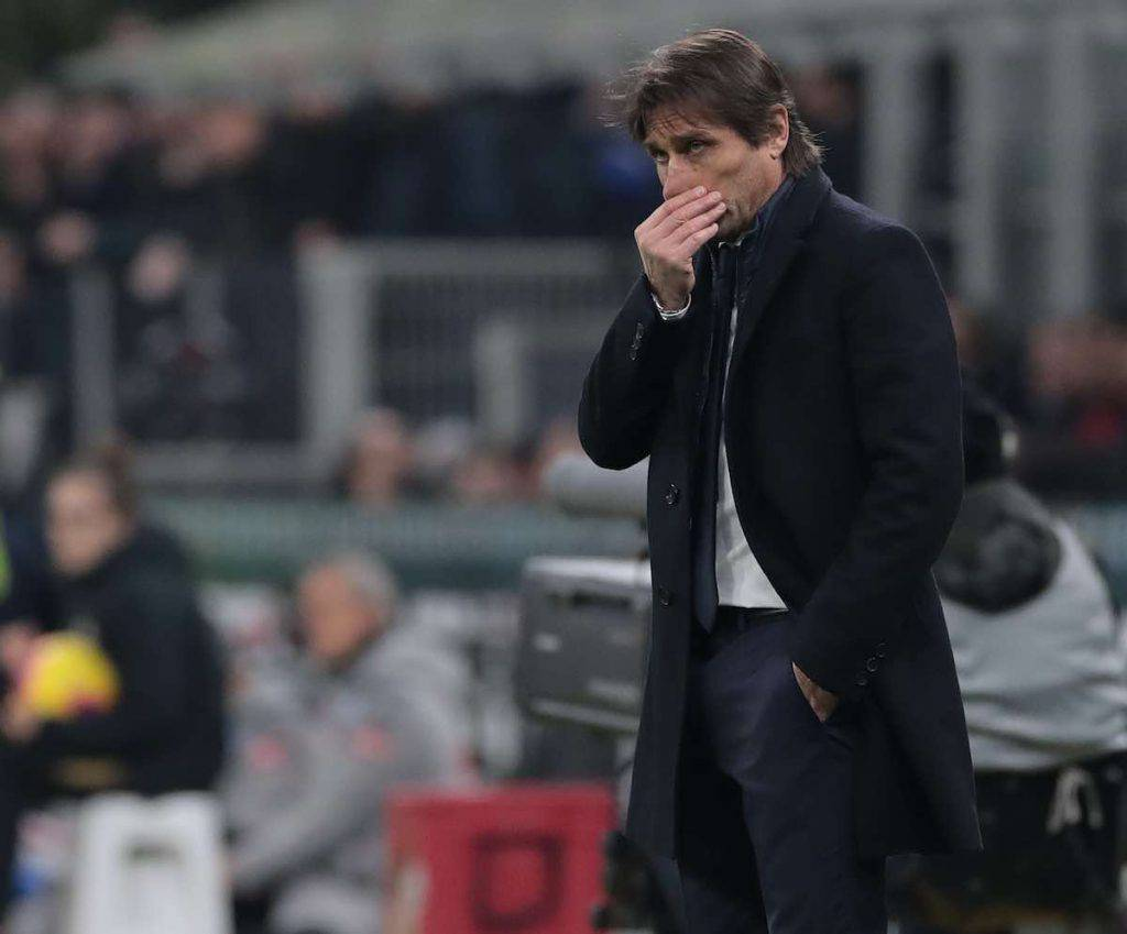 Antonio Conte nel post partita di Europa League