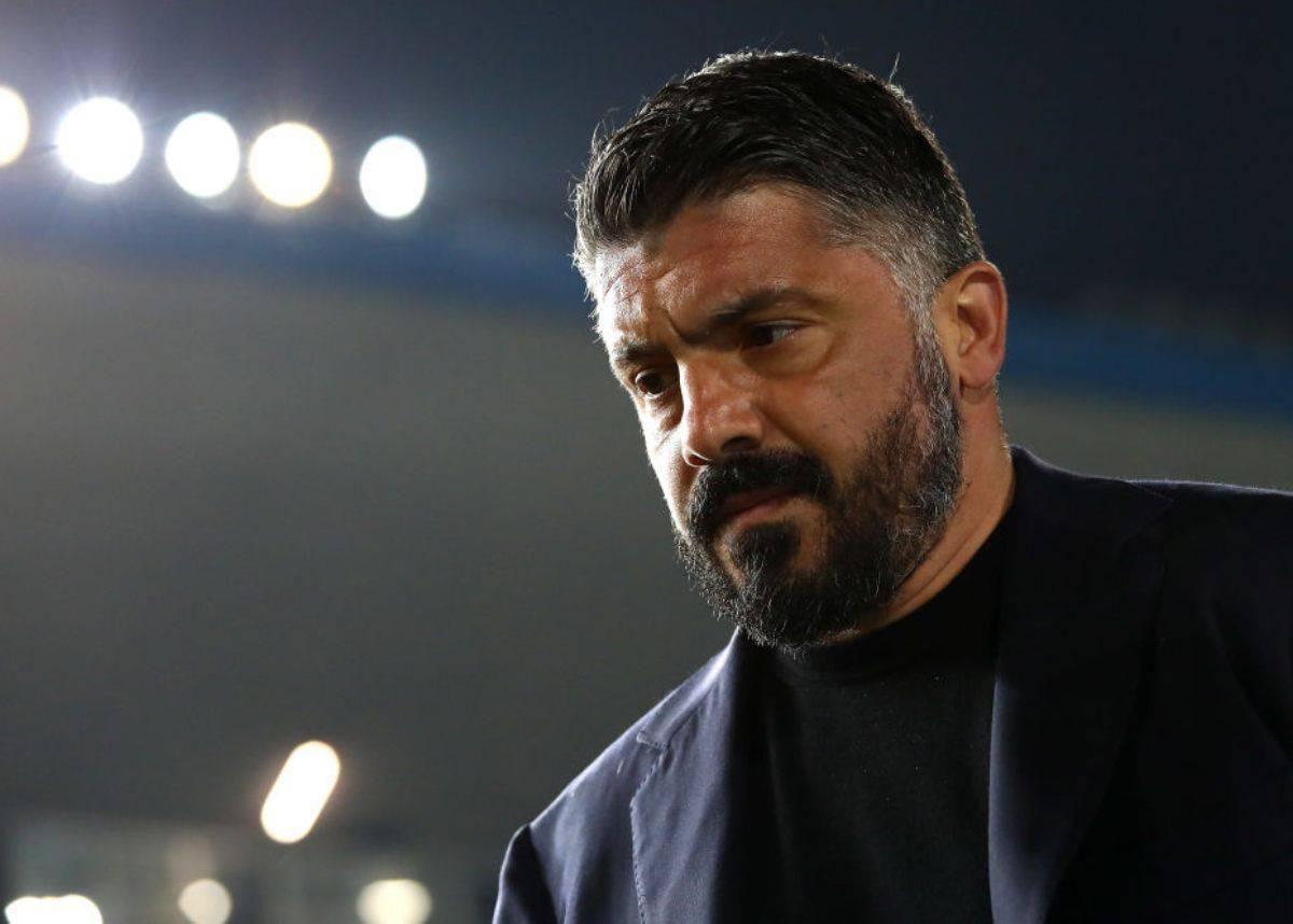 Gattuso in conferenza stampa per Napoli-Torino