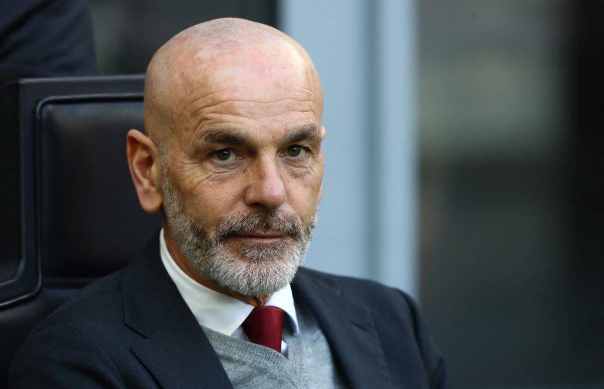 Stefano Pioli nella conferenza di Fiorentina-Milan