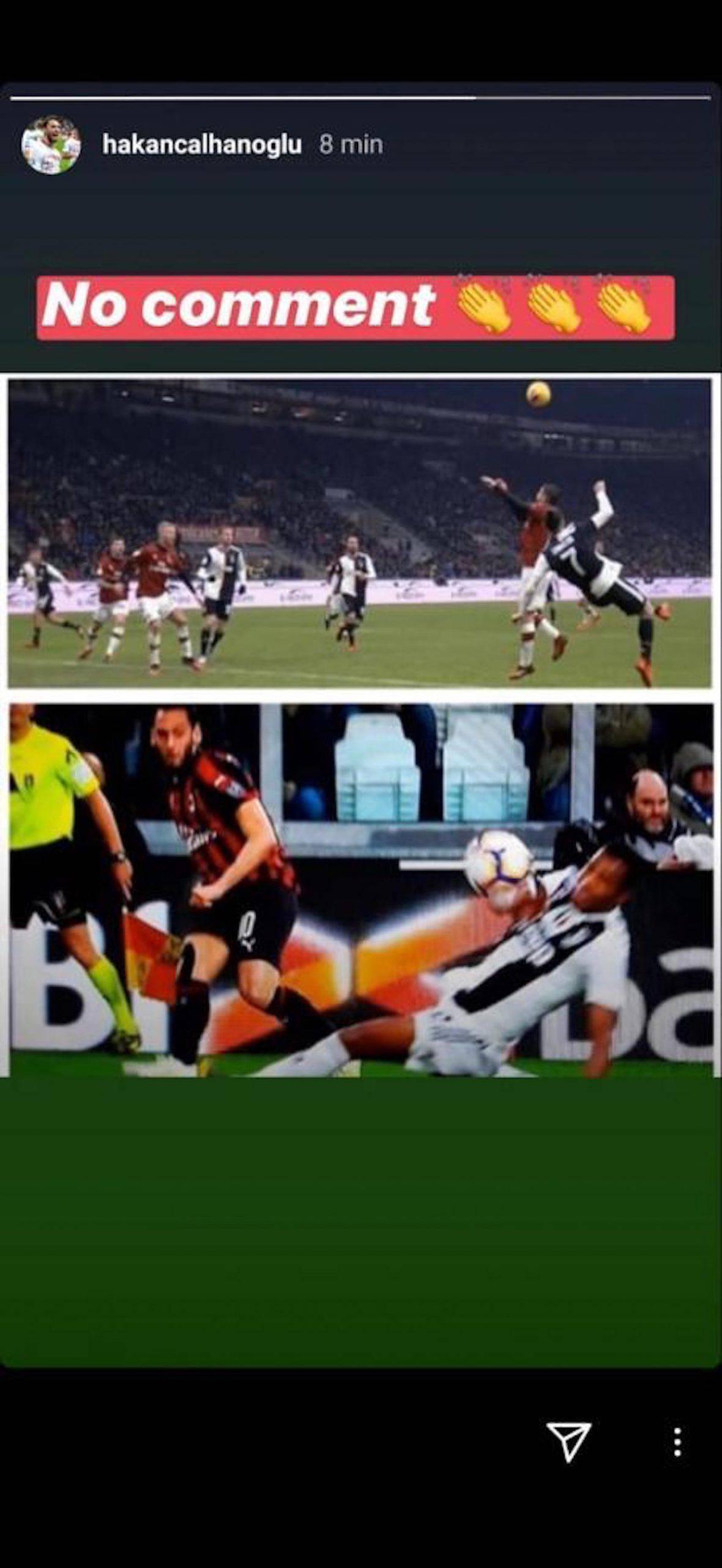 Milan-Juventus, Calhanoglu polemico dopo il mani di Alex Sandro