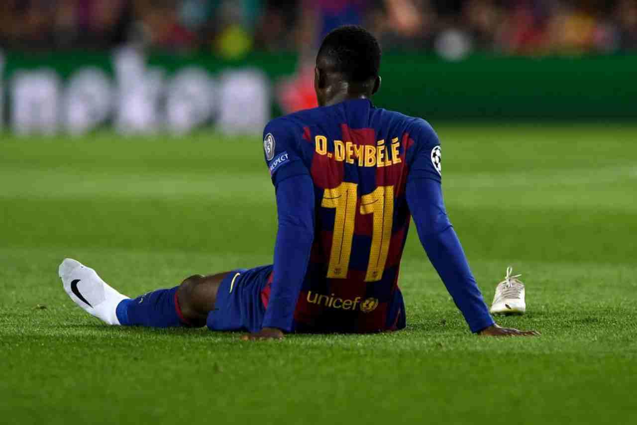 Barcellona, Dembelé non ci sarà contro il Napoli: stagione finita per il francese