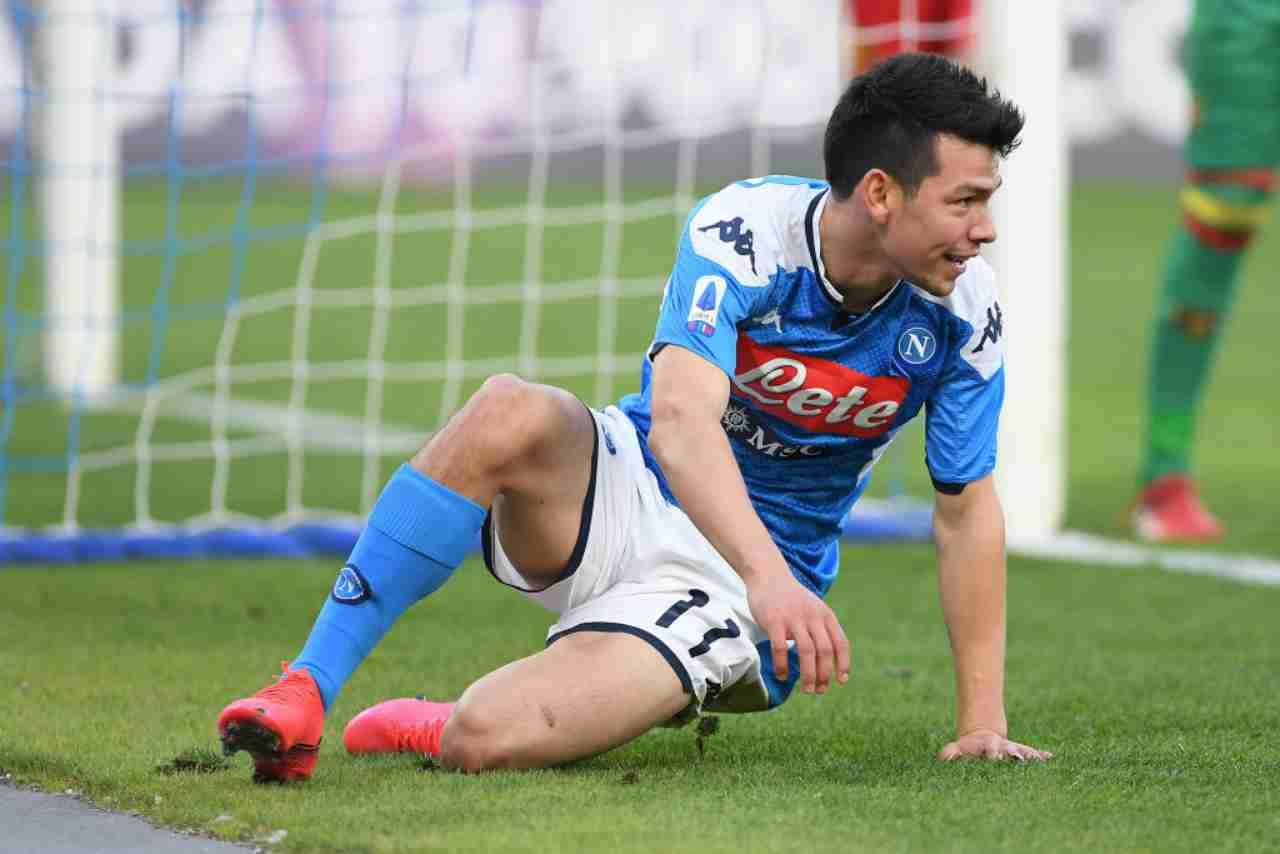 Napoli, caso Lozano: escluso da Gattuso, osannato in Messico