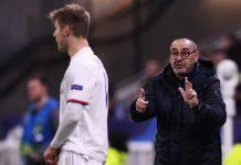 """Lione-Juve, Sarri critico con i suoi: """"Senza cattiveria. Giro palla troppo lento"""""""