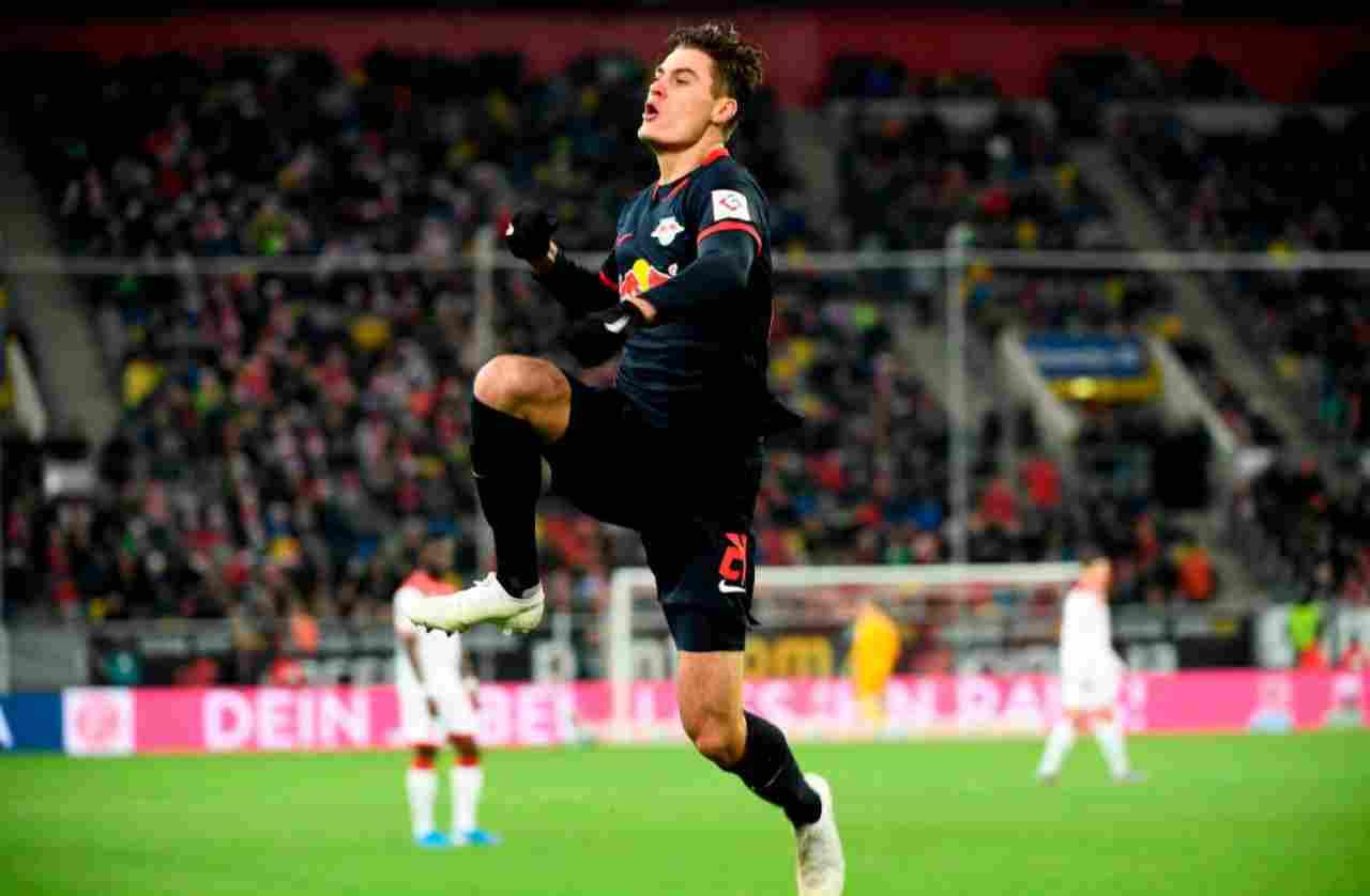 Schick, più gol in 12 partite al Lipsia che in due anni alla Roma