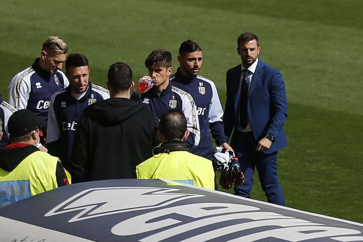 Serie A, stop per Parma-SPAL: squadre negli spogliatoi - Sportmediaset