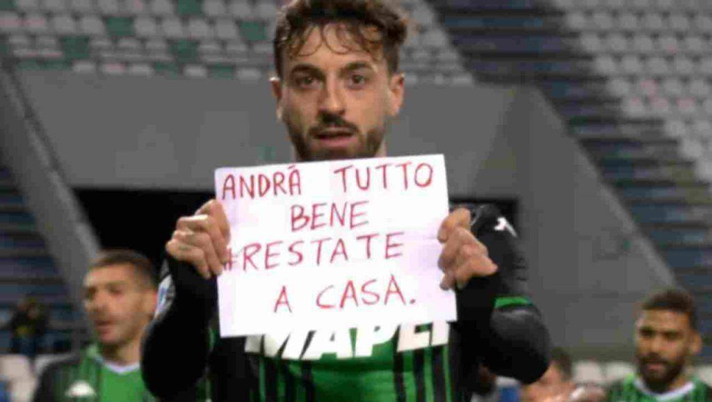 Sassuolo-Bologna, gol ed esultanza particolare per Caputo (Getty Images)