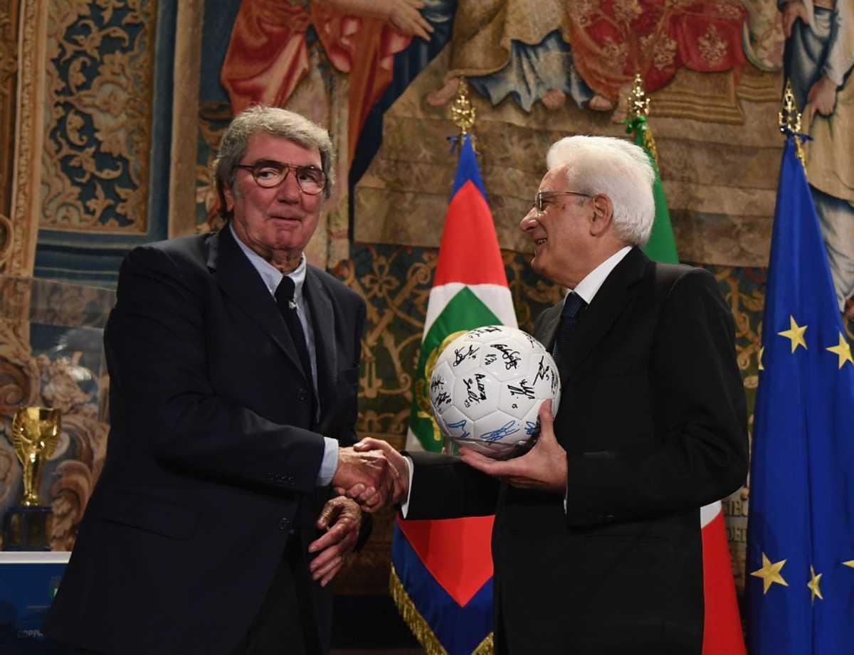 Dino Zoff e Sergio Mattarella (Getty Images)