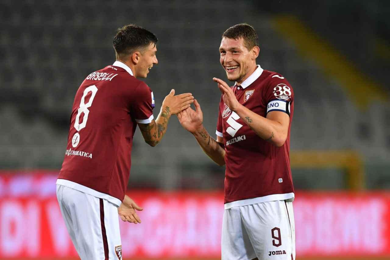 Belotti e Baselli, due degli obiettivi dell'Inter (Getty Images)