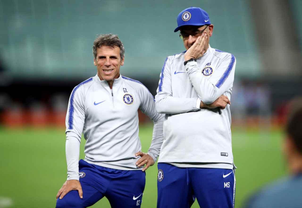 Zola, retroscena sull'esperienza di Sarri al Chelsea (Getty Images)