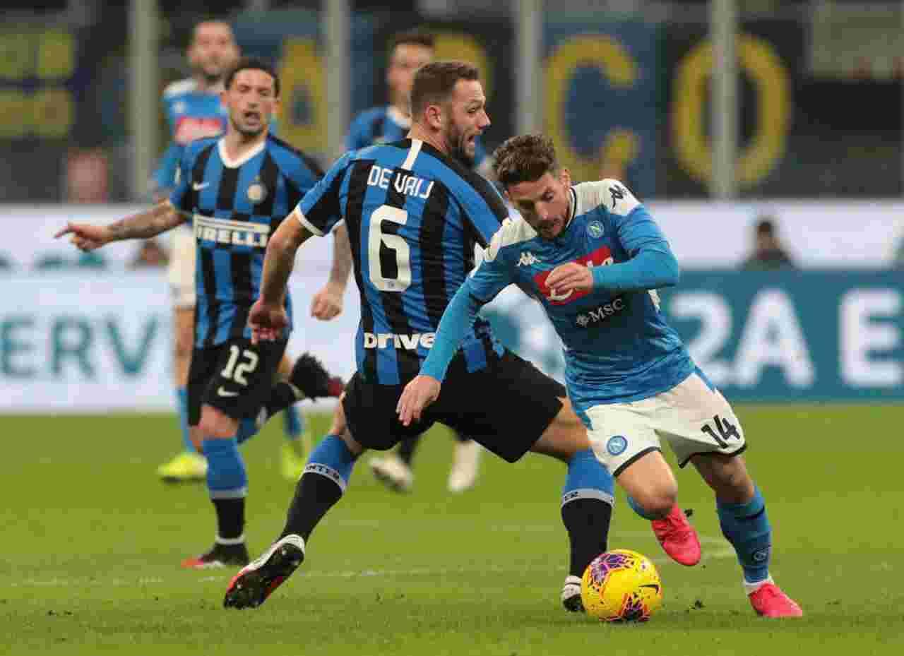Coppa Italia, Napoli-Inter: tutte le combinazioni per la finale