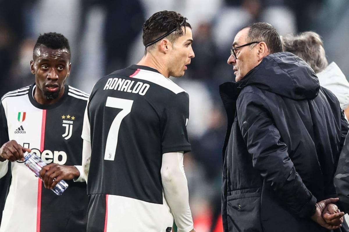 Cristiano Ronaldo e Sarri