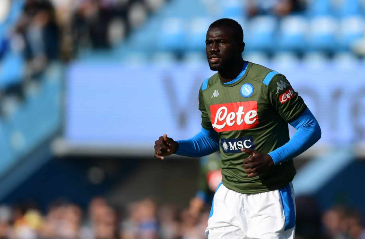 Koulibaly, pressing del Manchester United (Getty Images)