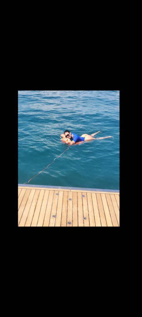 Lady Ronaldo al mare (Instagram)