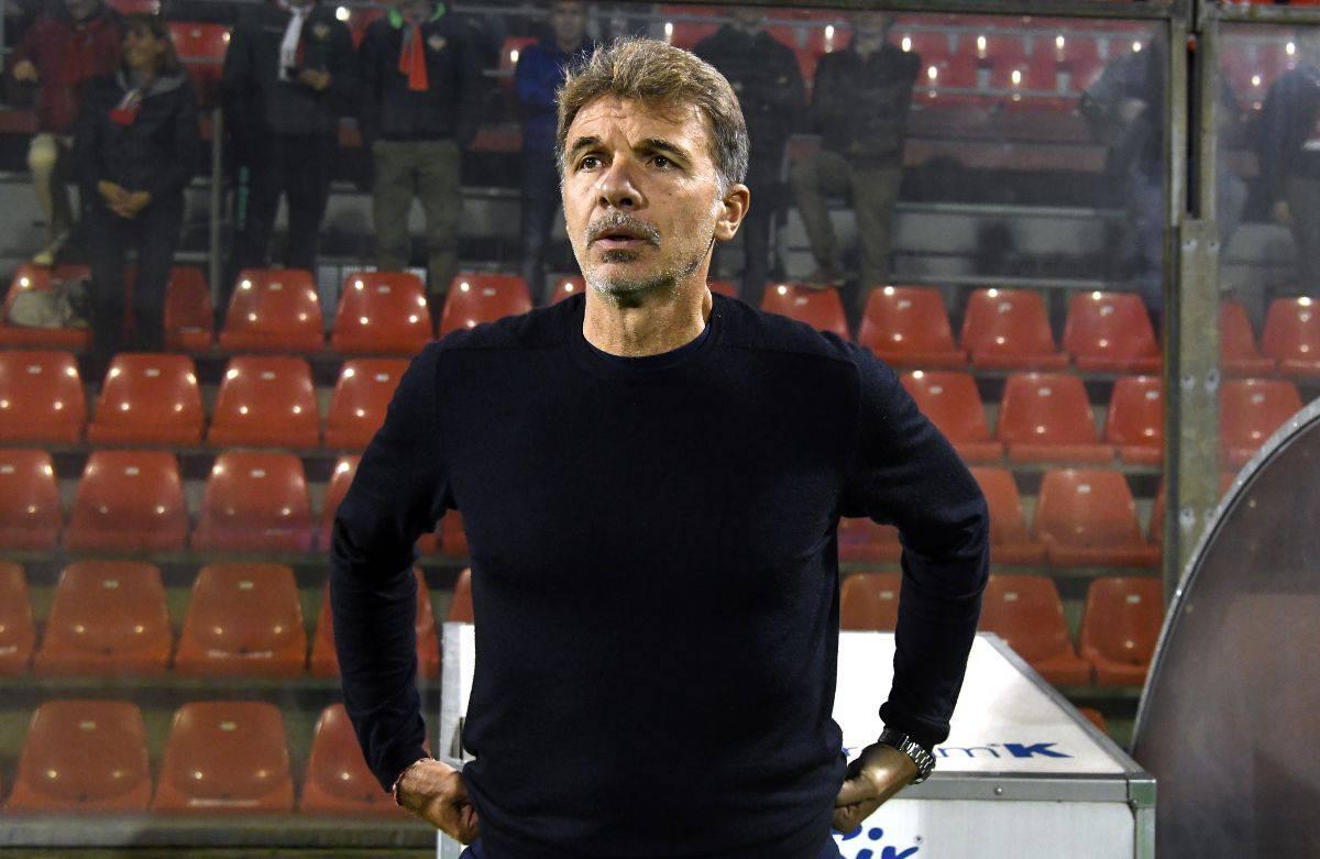 Marco Baroni tecnico del Benevento nella storica promozione di tre anni fa (Getty Images)