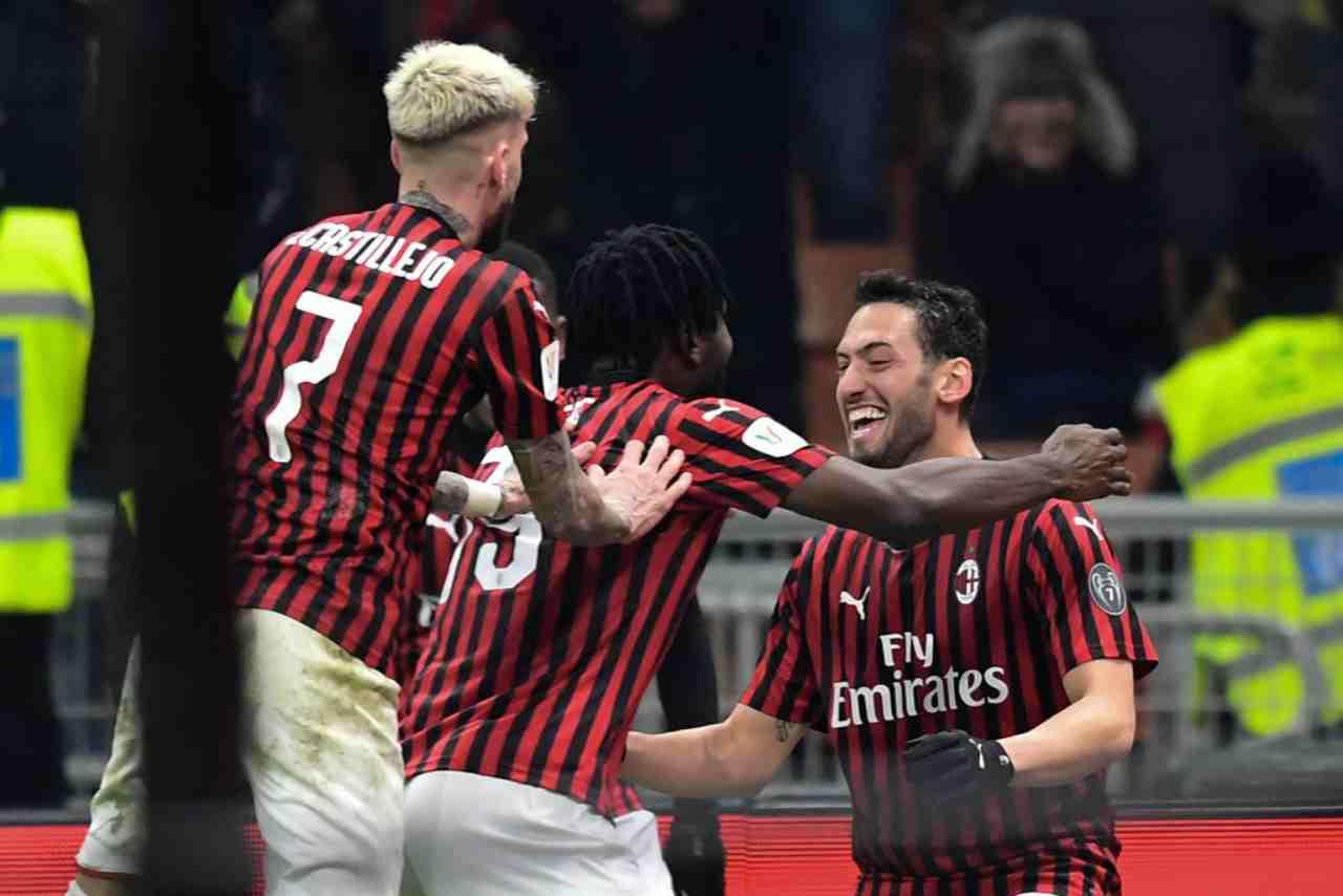 Milan in vantaggio su un giocatore del Salisburgo (Getty Images)