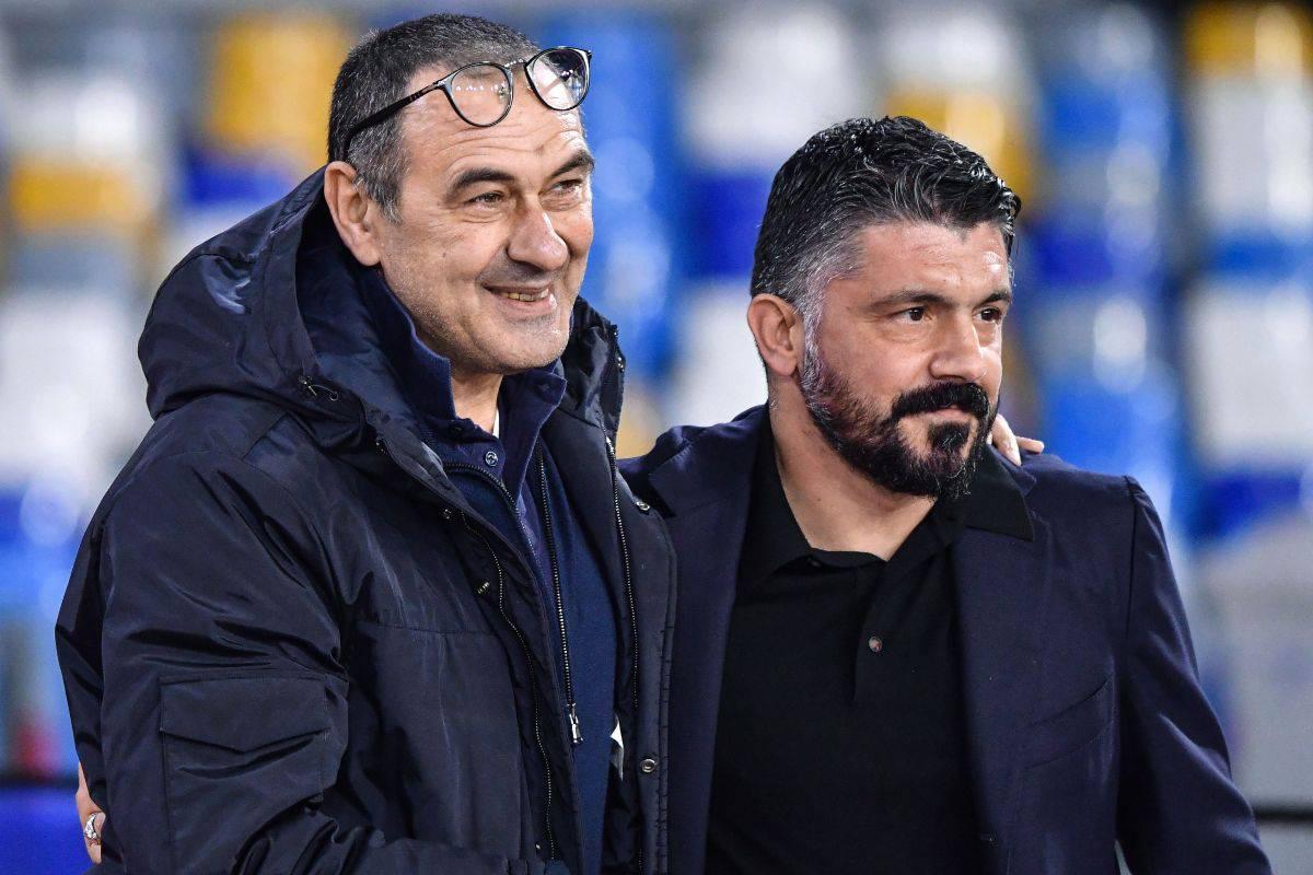 Maurizio Sarri e Rino Gattuso