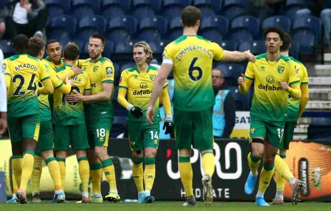 Norwich, un positivo al Covid (Getty Images)