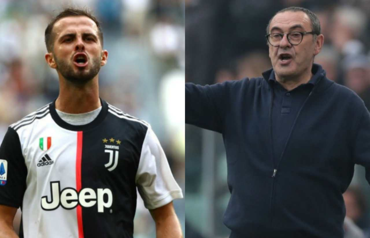 Sarri e Pjanic, screzi in allenamento (Getty Images)