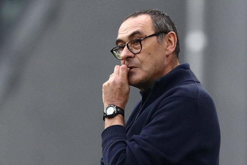 Sarri nel post partita contro il Sassuolo (Getty Images)