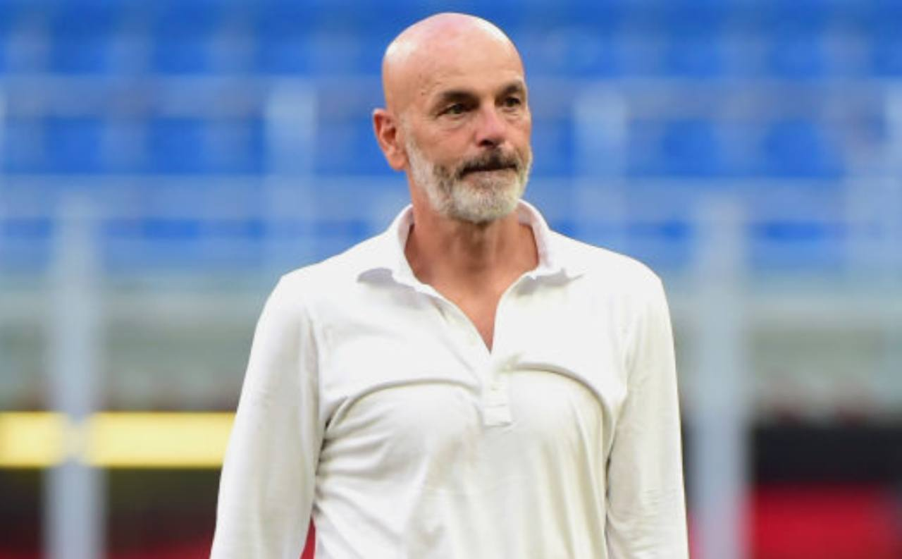 Stefano Pioli in conferenza stampa (Getty Images)