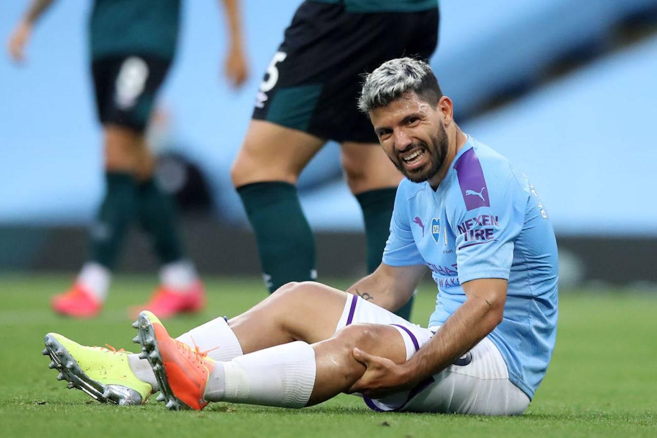 """Aguero infortunato, Guardiola: """"Ha qualcosa al ginocchio"""""""