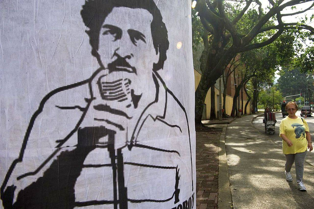 Un murales dedicato a Pablo Escobar (Getty Images)