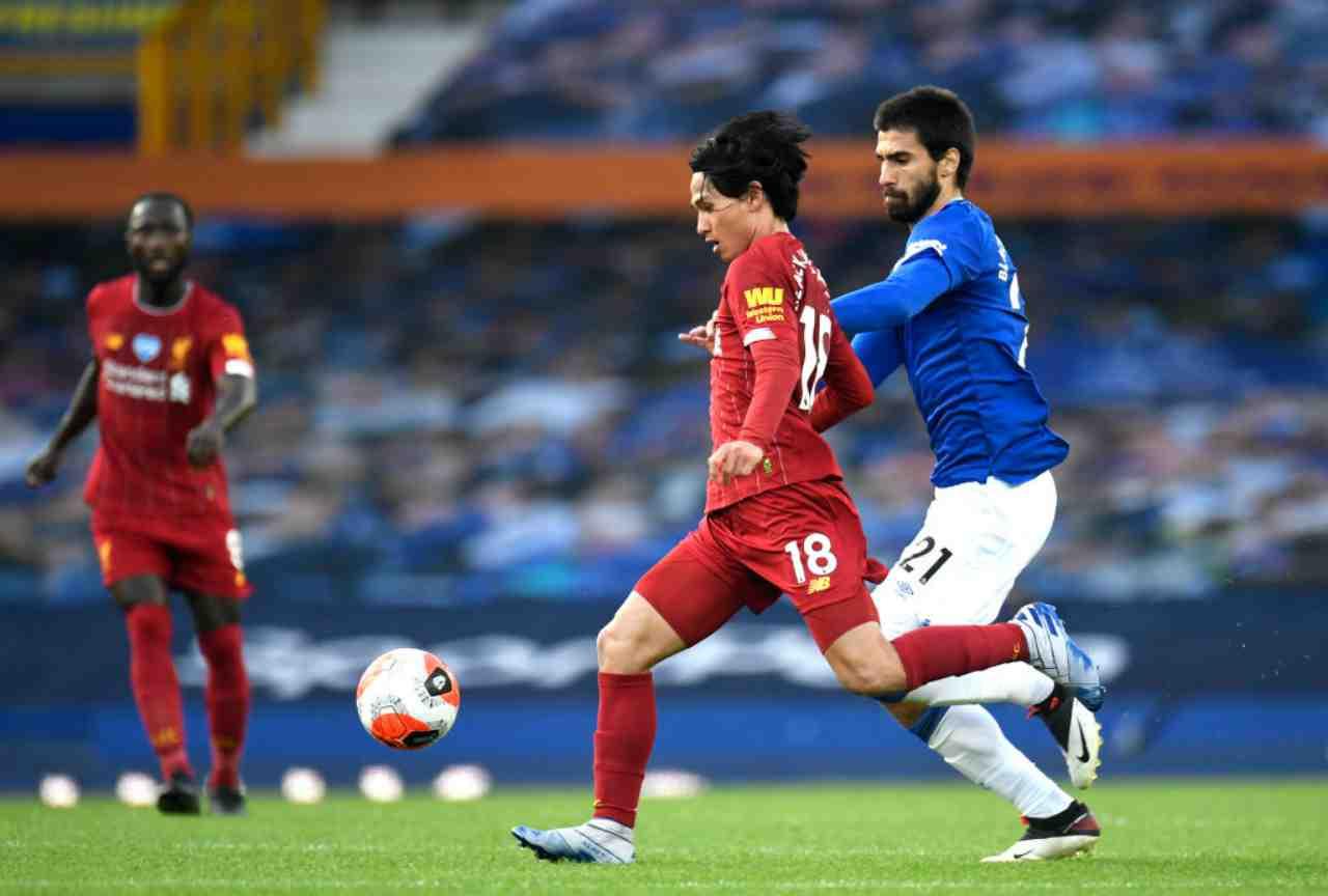 Premier League, un'immagine di Everton-Liverpool