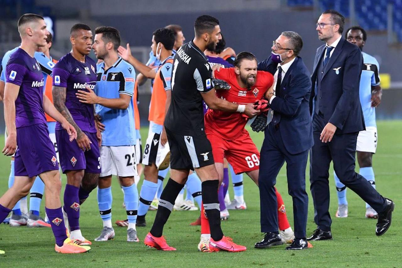"""Fiorentina, il figlio di Barone attacca la Lazio: """"Rigore vergognoso"""""""