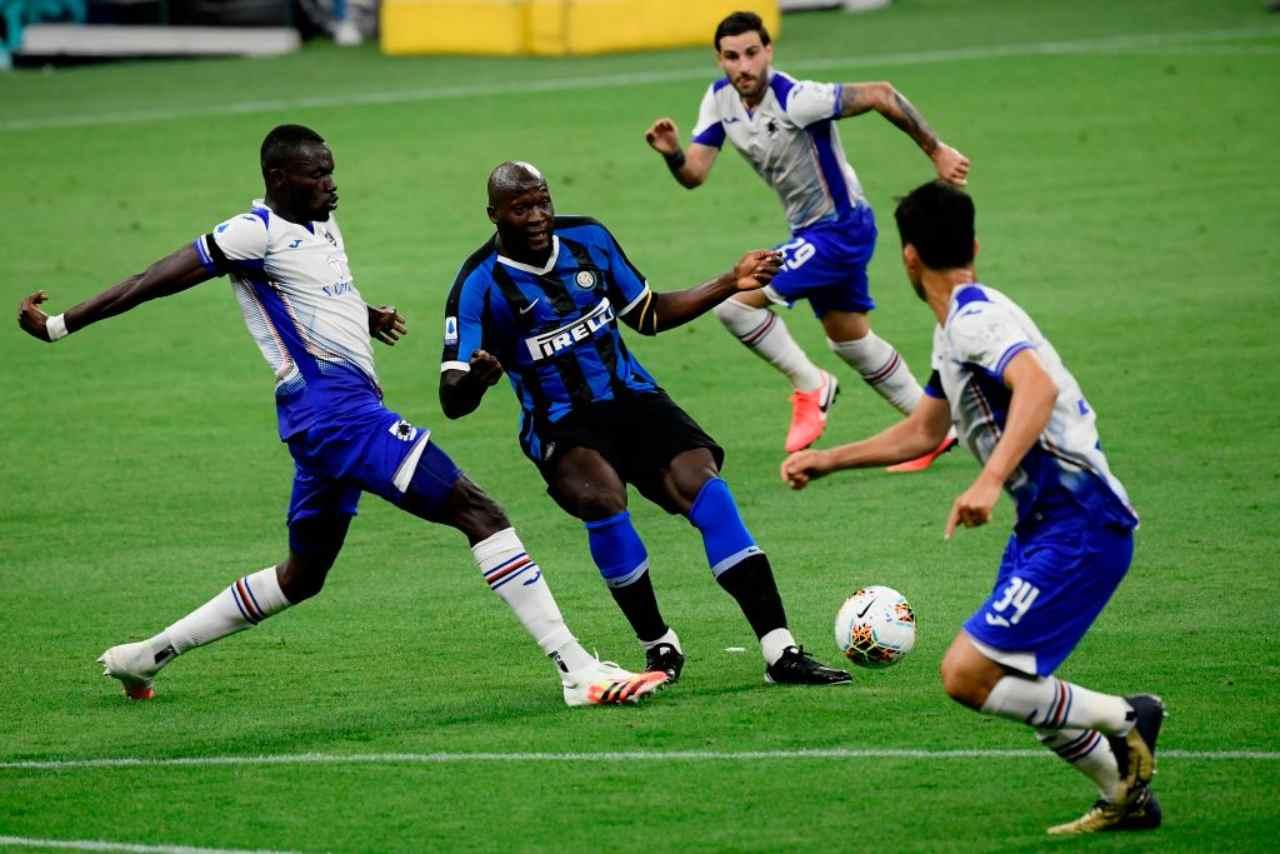 Inter-Samp 2-1: Lukaku-Lautaro, i nerazzurri accorciano sulla Juve (Getty Images)