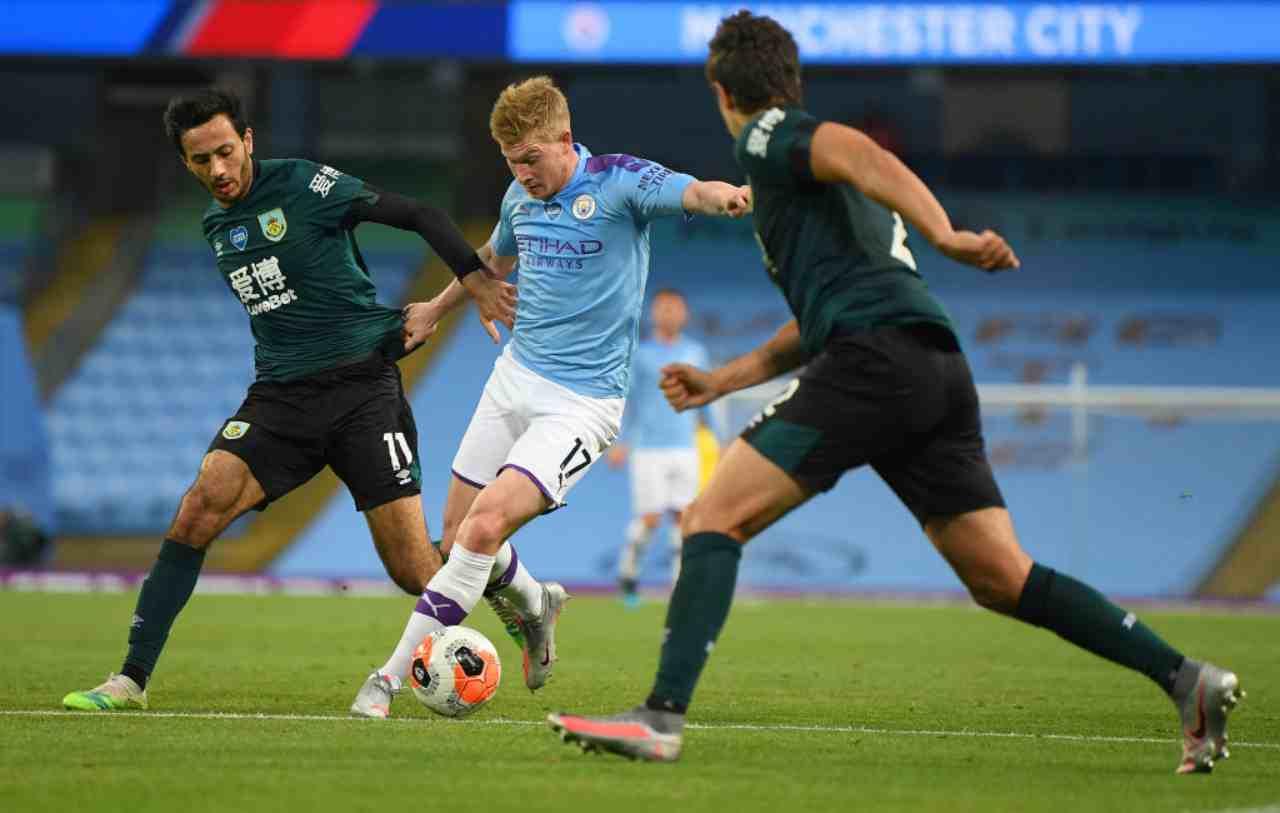 Manchester City, la goleada al Burnley