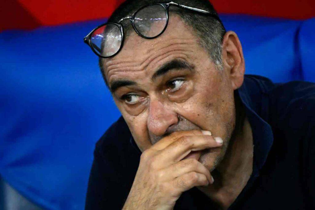 Sarri nel post partita di Juventus-Atalanta (Getty Images)