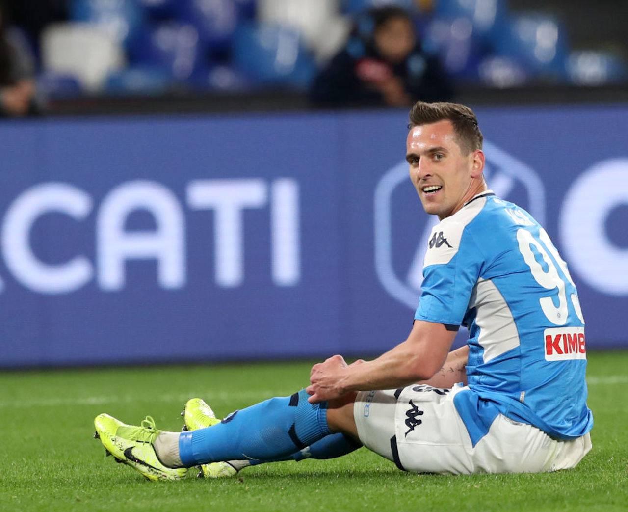 Calciomercato Napoli, addio Milik: il sostituto gioca nel Lille
