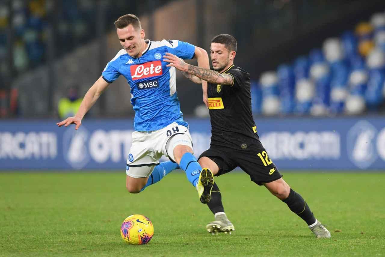 Napoli-Inter, Coppa Italia