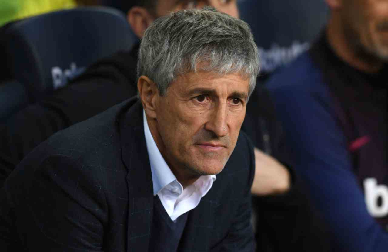 Champions League, Barcellona-Napoli: la richiesta di Setien alla UEFA