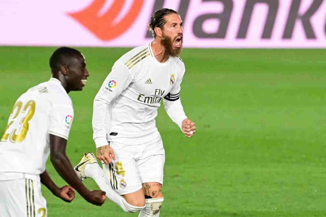 Sergio Ramos fissa il 2-0 del real Madrid al Mallorca nella Liga
