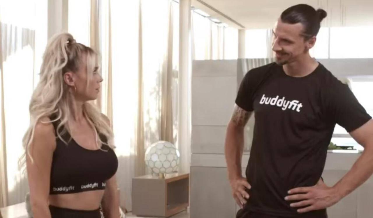 DIletta Leotta si allena con Ibrahimovic