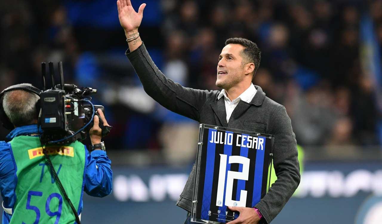 Inter Julio Cesar Milito festeggiano Scudetto