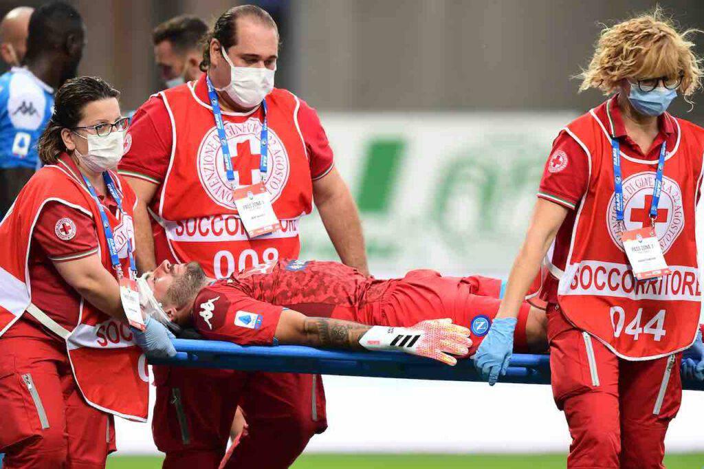 Ospina, infortunio alla testa per il portiere del Napoli (Getty Images)