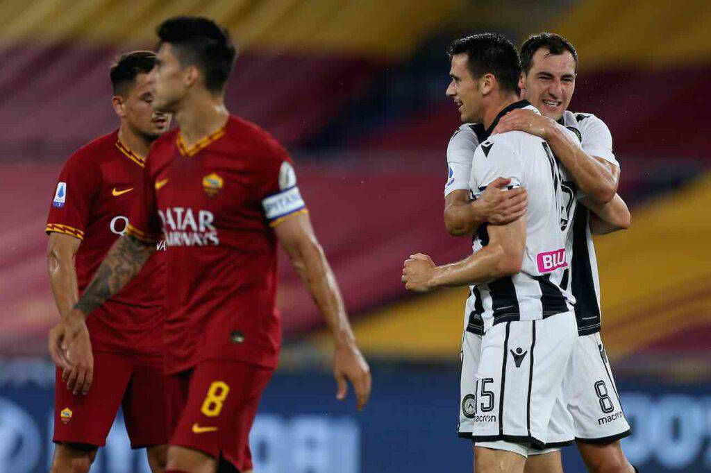 Serie A, la Roma crolla in casa contro l'Udinese (Getty Images)