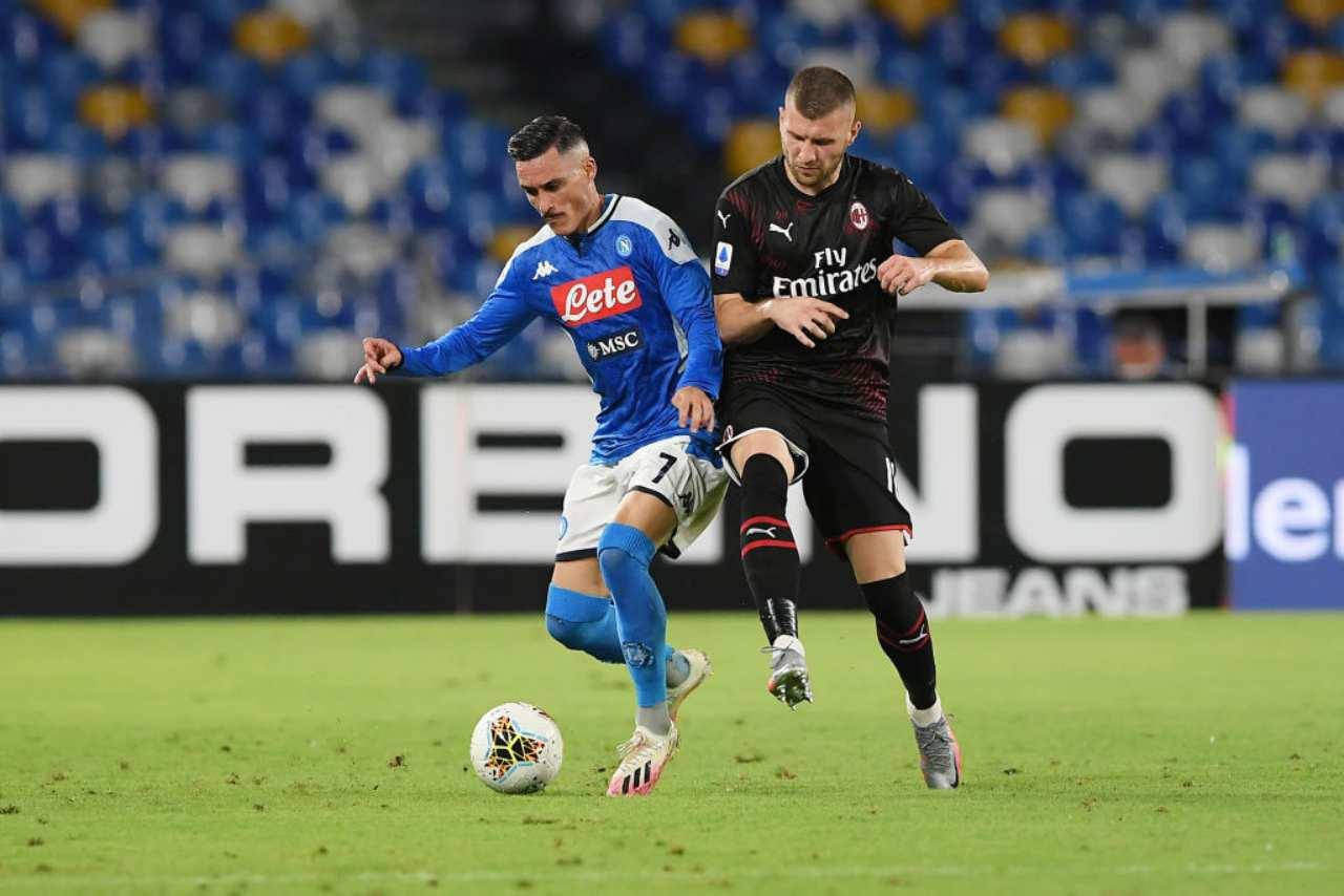Napoli-Milan, i rossoneri pareggiano in dieci: Donnarumma che errori (Getty Images)