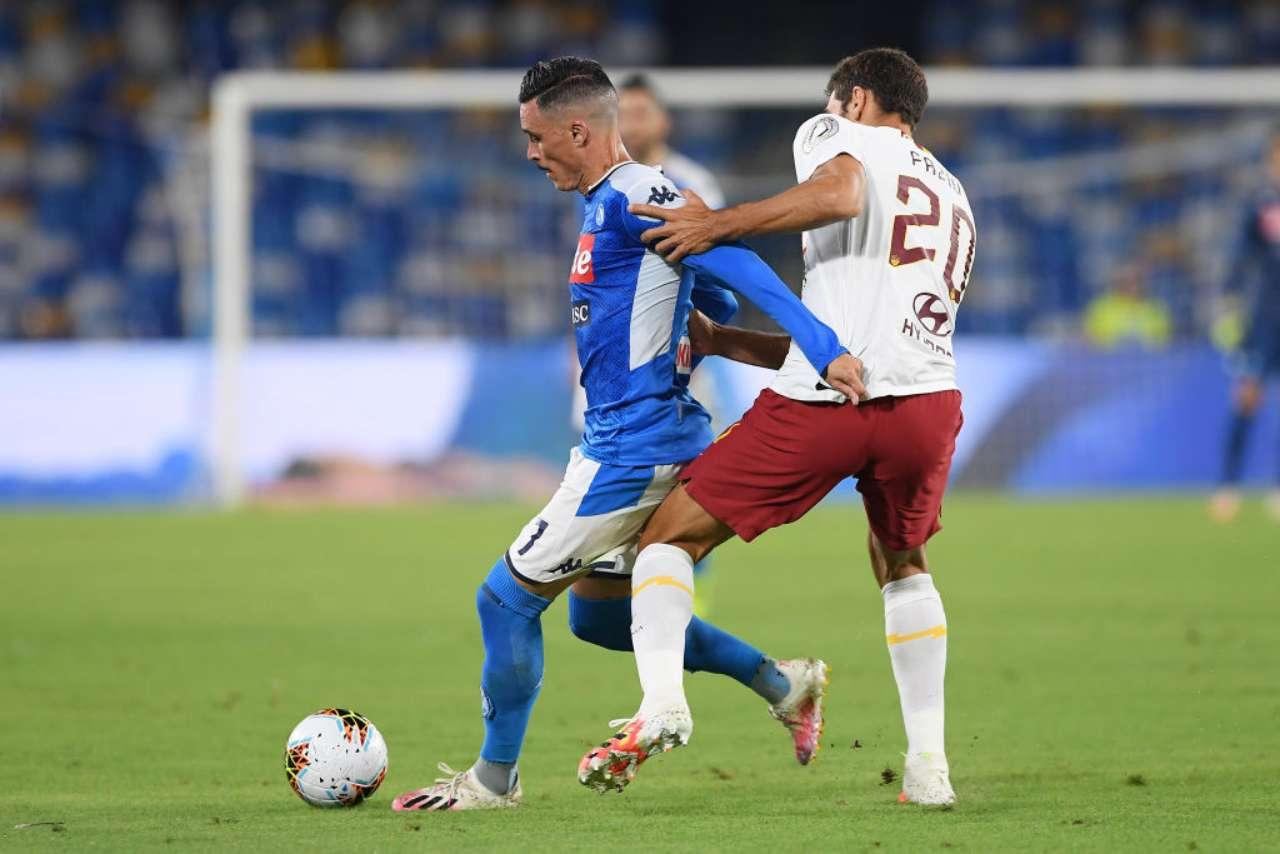 Napoli-Roma, Insigne decisivo con una magia. Mkhitaryan illude i giallorossi (Getty Images)