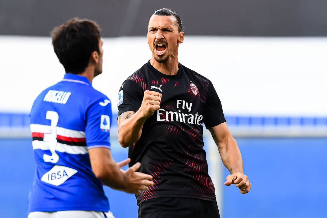 Sampdoria-Milan 1-4, Ibrahimovic show a Marassi (Getty Images)