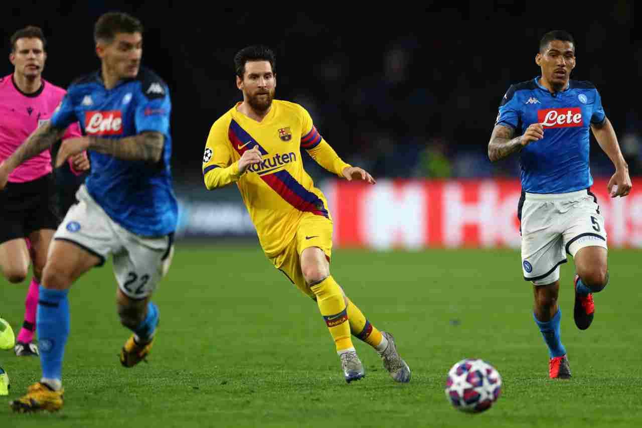 Napoli-Barcellona, Setién vuole un Messi selettivo