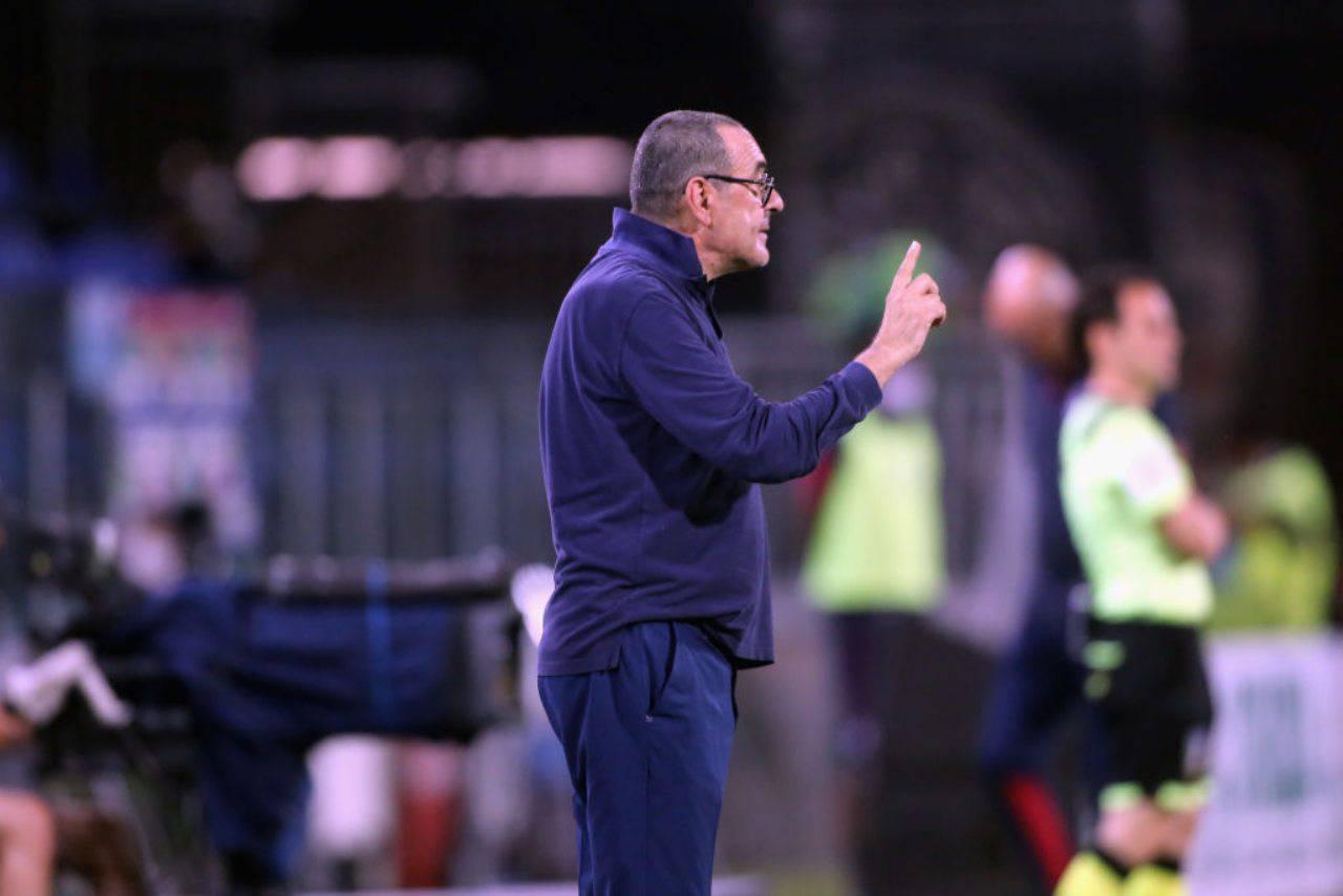 Maurizio Sarri, a breve l'esonero. La dirigenza bianconera ha deciso di sollevarlo dall'incarico (Getty Images)