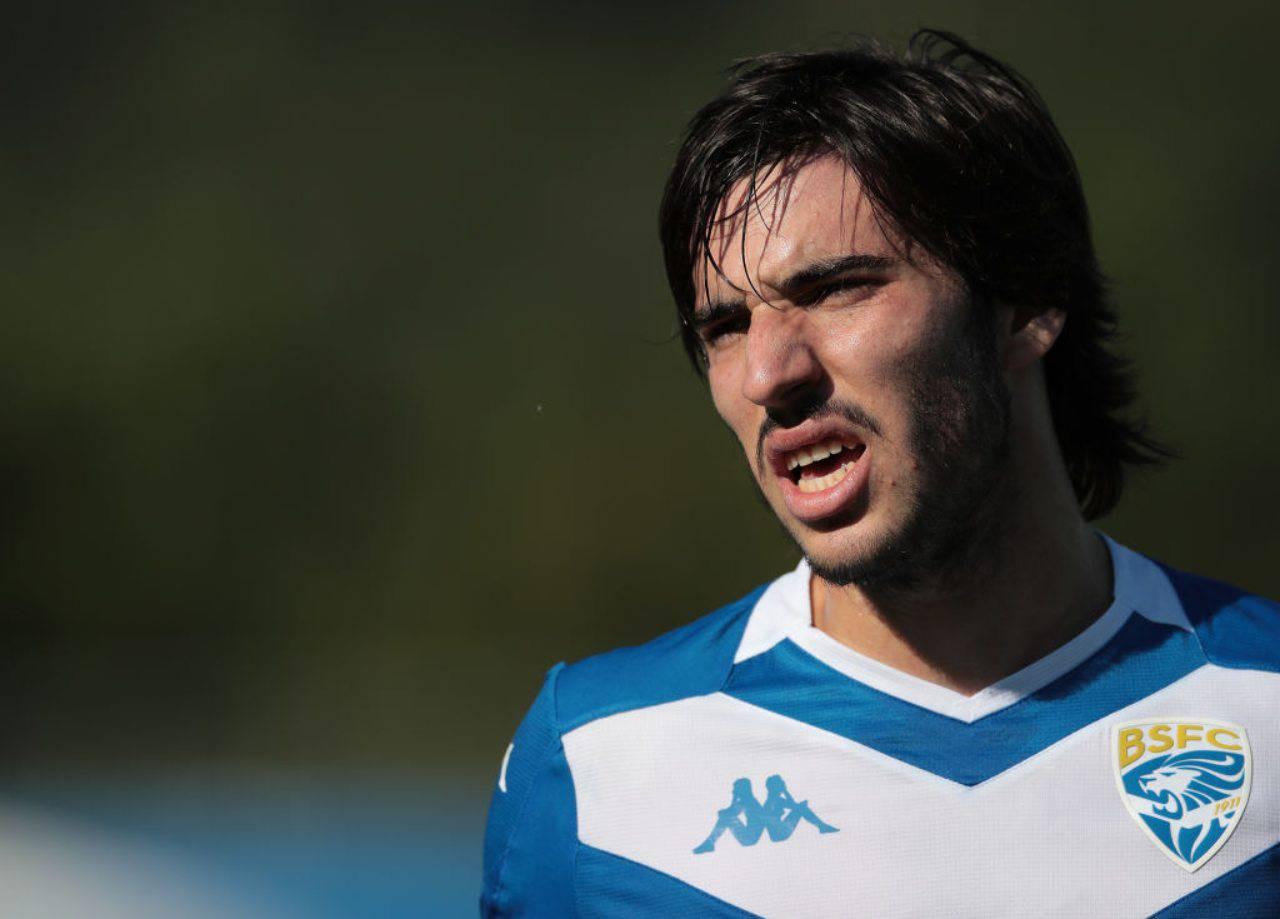 Sandro Tonali sarà un nuovo calciatore dell'Inter (Getty Images)