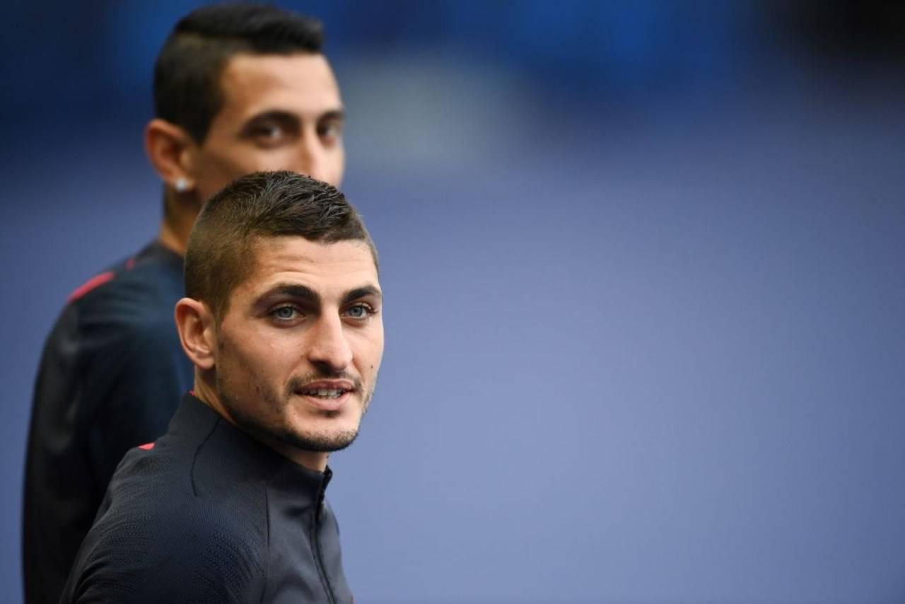 Marco Verratti, il numero sei del Paris Saint Germain si è infortunato ieri in allenamento. A rischio la sua presenza in Champions League il 12 agosto contro l'Atalanta (Getty Images)