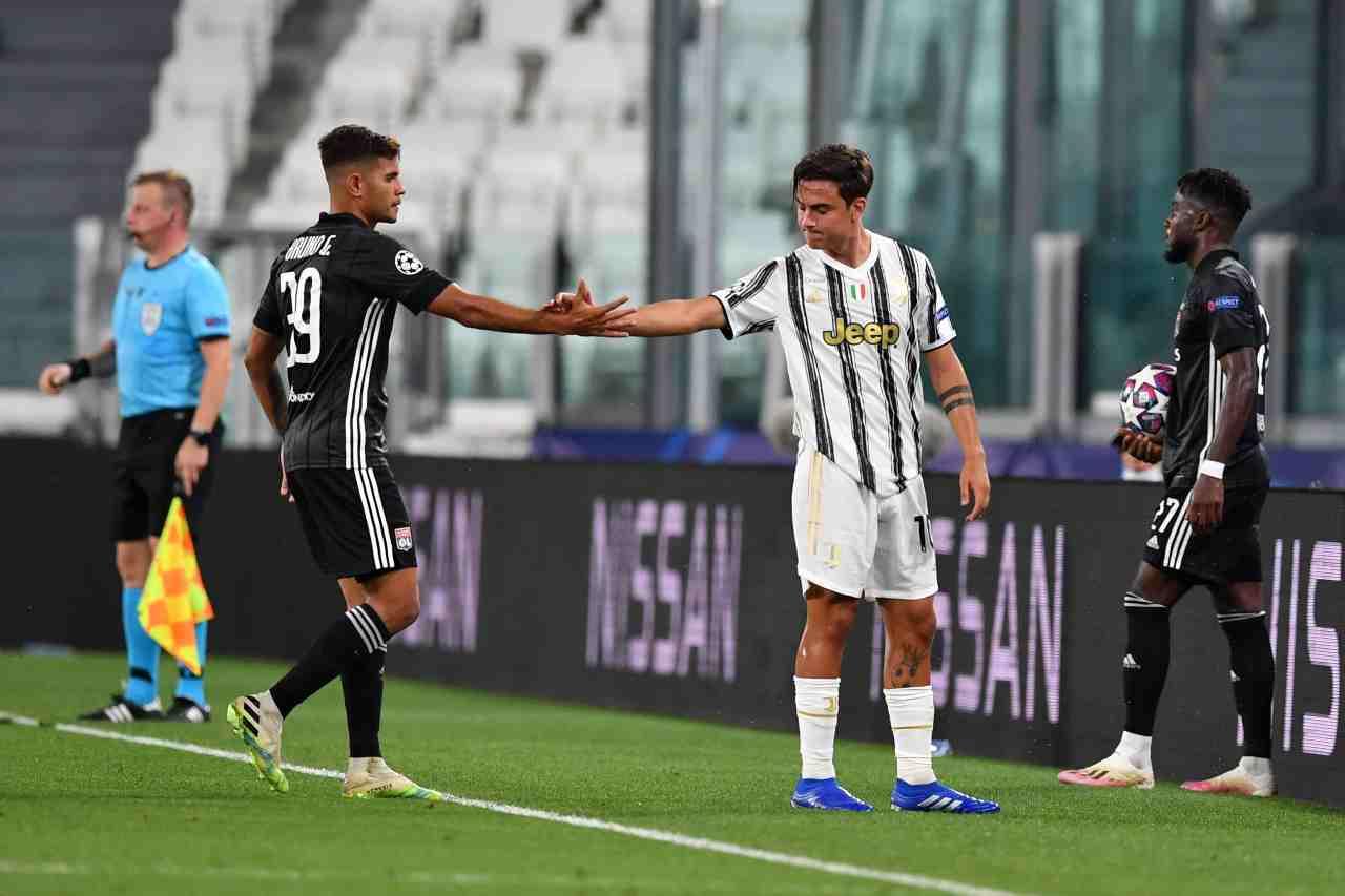 Juventus-Lione, l'infortunio di Dybala