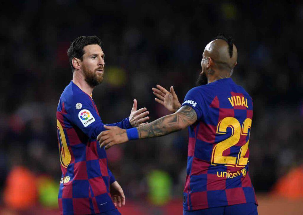 Il saluto di Vidal a Messi che fa sognare i tifosi nerazzurri (Getty Images)