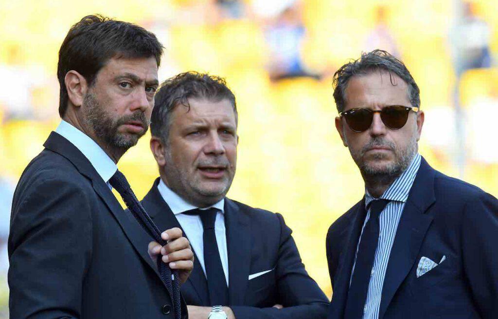 Pistocchi pungente con Andrea Agnelli su Twitter (Getty Images)
